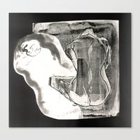 nudes Canvas Prints featuring Inverted nudes by Naia Designs