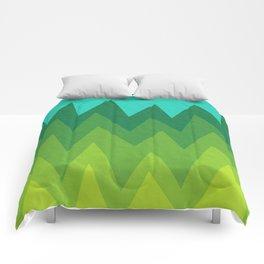 Green Summer Forest Comforters
