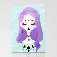 pastel goth Stationery Cards featuring Pastel by Paz Huichaman