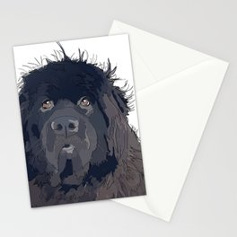 Newfoundland Dog (black) Stationery Cards