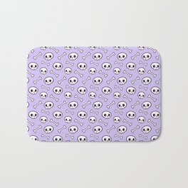 Cute Skulls // Purple Bath Mat