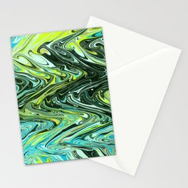 Paper Marbling 02 Stationery Cards