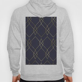 Gold Geometric Navy Blue Hoody