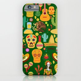 Fiesta Time! Mexican Icons iPhone Case