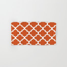 Arabesque Architecture Pattern In Burned Orange Hand & Bath Towel