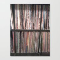 records Canvas Prints featuring Records by Loudesthowl