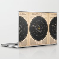 solar system Laptop & iPad Skins featuring Solar System by Le petit Archiviste