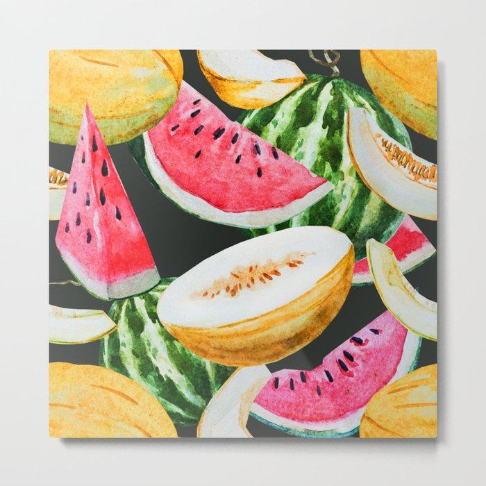 Melon Pattern 02 Metal Print