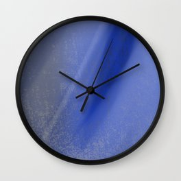 Exhale - Minimal Watercolor Abstract Blue Wall Clock