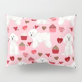 Bichon Frise valentines day dog gifts pet art portraits of your furry friend dog breeds Pillow Sham