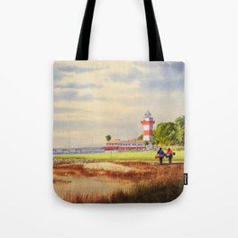 Harbour Town Golf Course SC Tote Bag