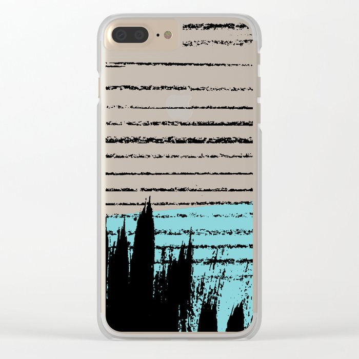 Lines & Strokes 001 Clear iPhone Case