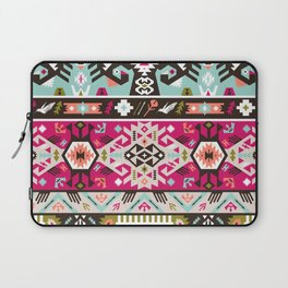 Fancy abstract geometric pattern in tribal style Laptop Sleeve
