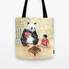 Playing Go with Panda Tote Bag