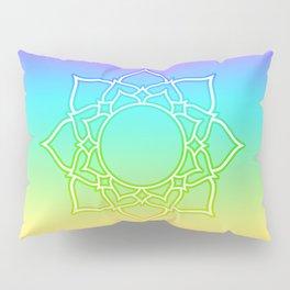 Rainbow Lotus Mandala Pillow Sham