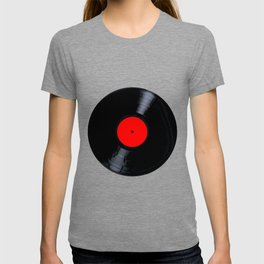 Blank Red Record Label T-shirt
