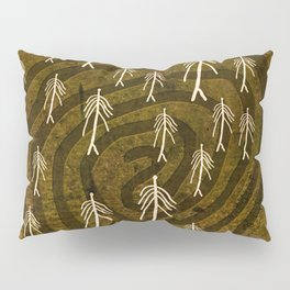 Ethnic 4 Canary Islands / Crowd in the Maze Pillow Sham