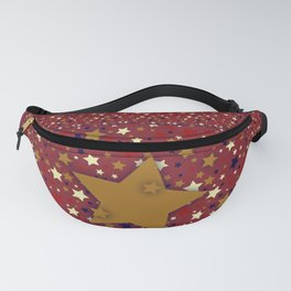 Gold Star Red Fanny Pack