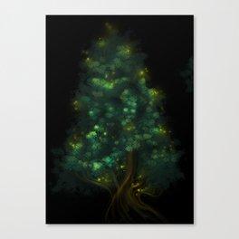Fireflies Tree Canvas Print