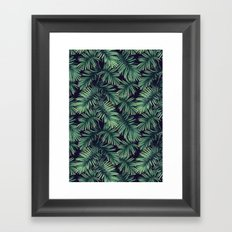 Green palm leaves Framed Art Print