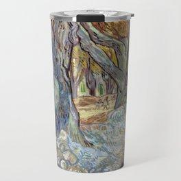 Vincent van Gogh The Large Plane Trees (Road Menders at Saint-Rémy) Travel Mug