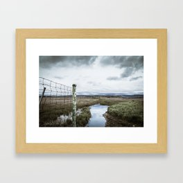 Here Comes the Storm Framed Art Print
