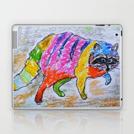 Rainbow Raccoon Laptop & iPad Skin