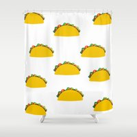 taco Shower Curtains featuring Taco  by Beautiful Artworks