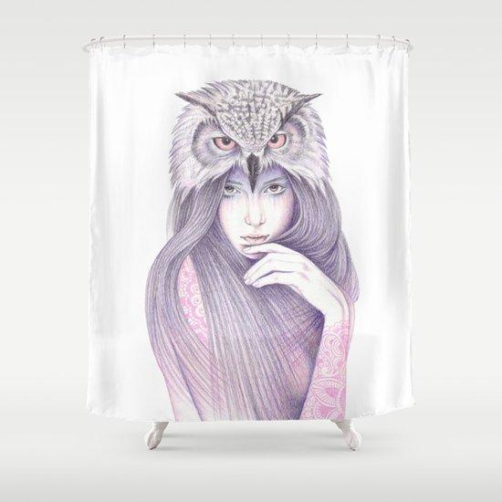 The Wisdom Shower Curtain