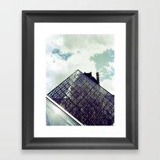 Louvre Pyramid I Framed Art Print