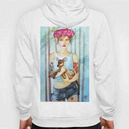 Girl with fawn Hoody
