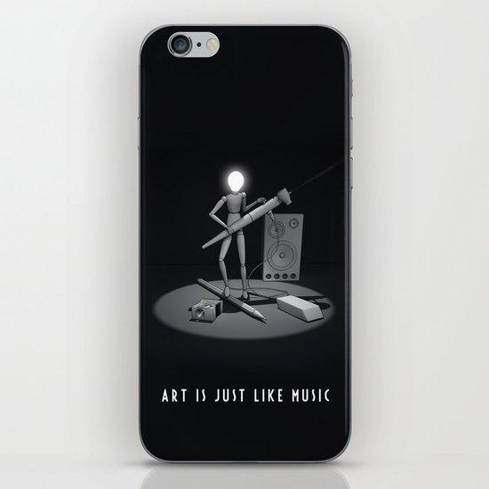 art is just like music iPhone Skin