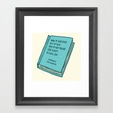 Memoir Framed Art Print