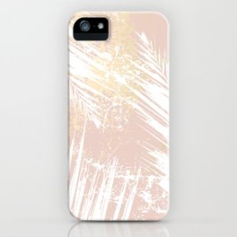Gold Blush Palm Leaves iPhone Case