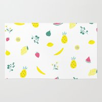 fruits Area & Throw Rugs featuring Fruits by haroulita