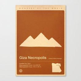 Giza Necroolis, Egypt Canvas Print