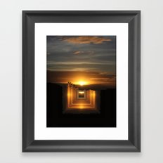 Catch a little sunrise and save it for a rainy day Framed Art Print