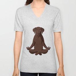 Yoga Labrador  Unisex V-Neck