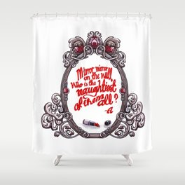 Who is the naughtiest of them all? Shower Curtain