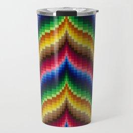 Bargello Quilt Pattern Impression 1 Travel Mug