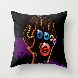 Comic Hands - Infinity Throw Pillow