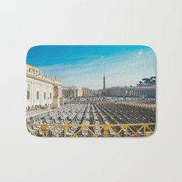 Ready for Mass at the Vatican, St. Paul's Basilicia, Italy Bath Mat