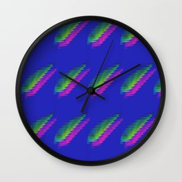 Twin Feathers Wall Clock