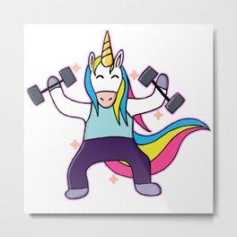 Fit Unicorn Metal Print