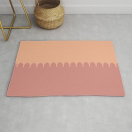 Dusty Rose Sunset Over the Wall Rug