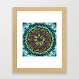 Fractal Agate Framed Art Print