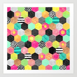 Color Hive Art Print