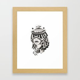 GALAXY WIFE Framed Art Print