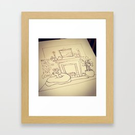 Millie and the Fire. Framed Art Print