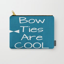 DOCTOR WHO Bow Ties Are Cool Teal Carry-All Pouch